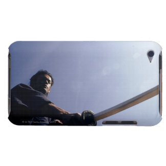 Samurai warrior strikes an attack with a sword 7 barely there iPod covers