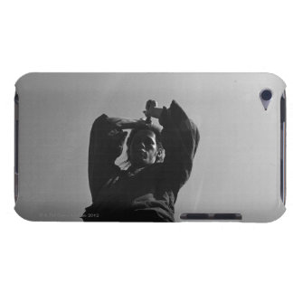 Samurai warrior strikes an attack with a sword iPod touch cover