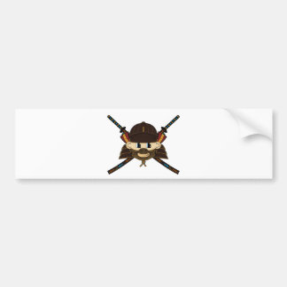 Samurai Warrior & Swords Sticker