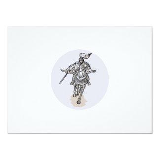 Samurai Warrior With Katana Sword Horseback Etchin 6.5x8.75 Paper Invitation Card