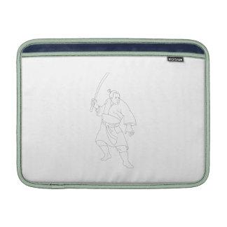 Samurai Warrior With Katana Sword Sleeves For MacBook Air
