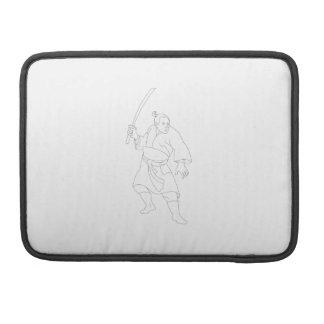 Samurai Warrior With Katana Sword Sleeve For MacBook Pro