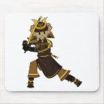 Samurai Warrior with Sword Mousepad
