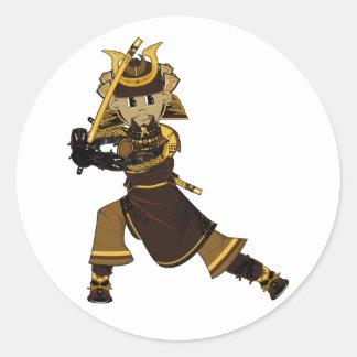 Samurai Warrior with Sword Sticker