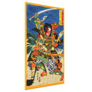 Samurai Warriors Fighting Canvas Print