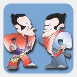 Samurai Warriors Square Stickers