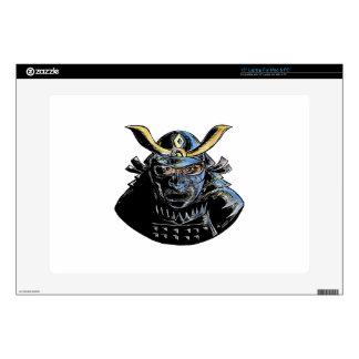 """Samurai Wearing Armor Mask Mempo Woodcut 15"""" Laptop Skin"""