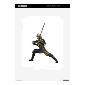 samurai with a sword in a defensive form iPad 2 decal