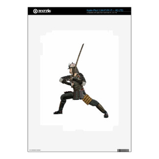 samurai with a sword in a defensive form iPad 3 skin