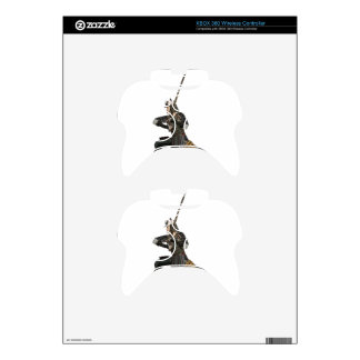 samurai with a sword in a defensive form xbox 360 controller skins