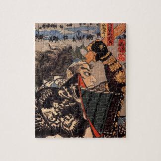 Samurai with Beautiful Dragon Armor Puzzle