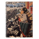 Samurai with Beautiful Dragon Armor Spiral Notebook
