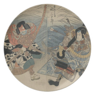 Samurai with Large Sword and Anchor circa 1815 Melamine Plate
