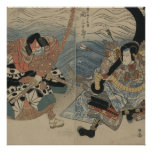 Samurai with Large Sword and Anchor circa 1815 Poster