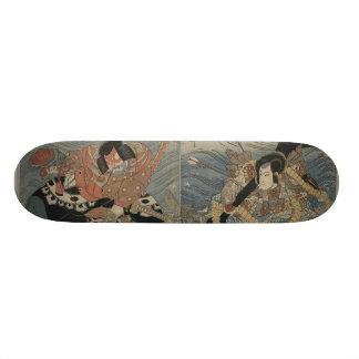 Samurai with Large Sword and Anchor circa 1815 Skateboard