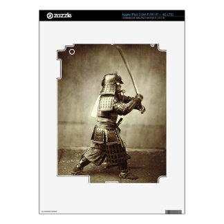 Samurai with raised sword, c.1860 (albumen print) skin for iPad 3