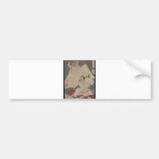 """Samurai with Sword and """"Earth Spider"""" Japanese Art Bumper Sticker"""