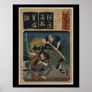 Samurai with Sword circa 1800s Japan Poster