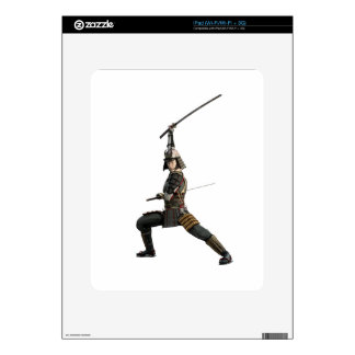samurai with two swords looking to the front decal for the iPad