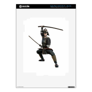 samurai with two swords ready looking to the front iPad 3 skins
