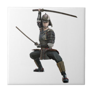samurai with two swords ready looking to the front tile