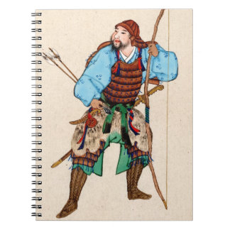 Samurai with Weapons 1878 Spiral Notebooks