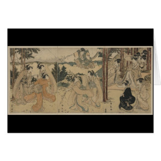 Samurai with Women and Mt. Fuji Background c.1801 Card