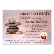 Samurai Zen Stones Bachelor Party customizable Card