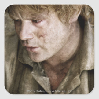 Samwise side face square sticker