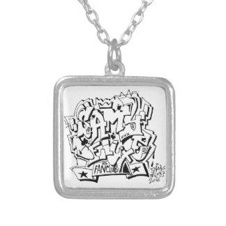 Samy Deluxe fan club chain Square Pendant Necklace