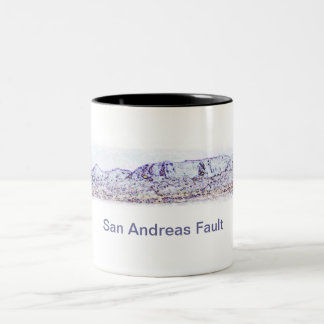 San Andreas Fault near Bombay Beach Two-Tone Coffee Mug