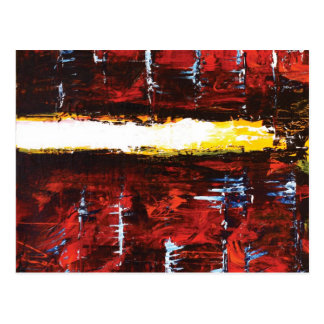 """San Andreas"" - Modern Abstract Art Postcard"