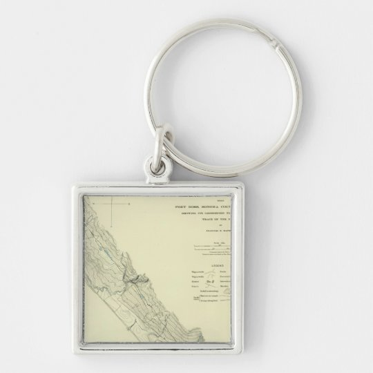San Andreas Rift near Fort Ross Keychain
