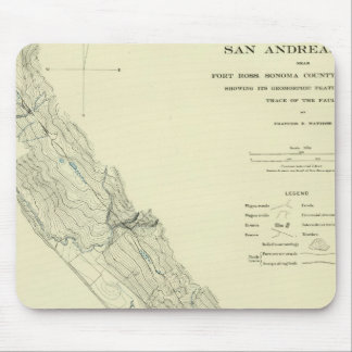 San Andreas Rift near Fort Ross Mouse Pad