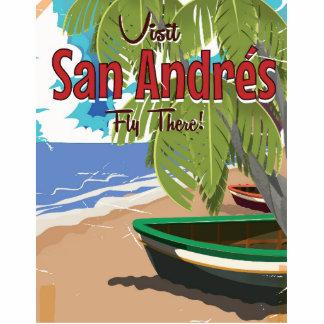San Andrés vintage travel poster Cutout