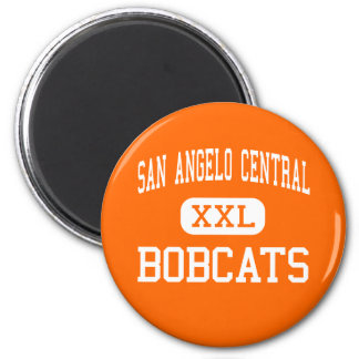 San Angelo Central - Bobcats - High - San Angelo 2 Inch Round Magnet