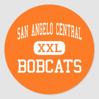 San Angelo Central - Bobcats - High - San Angelo Classic Round Sticker