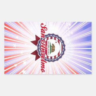 San Anselmo CA Rectangle Stickers
