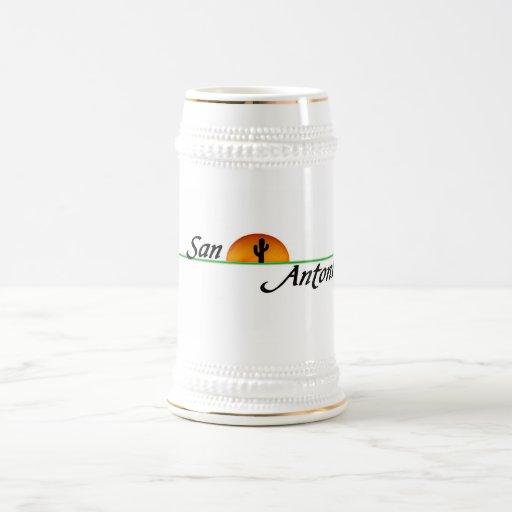 San Antonio 18 Oz Beer Stein
