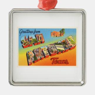 San Antonio #1 Texas TX Vintage Travel Souvenir Metal Ornament