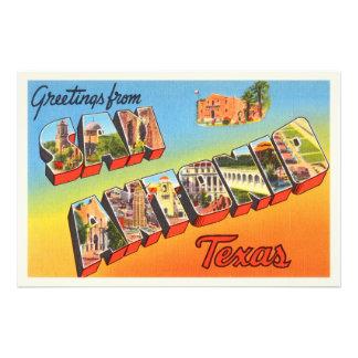 San Antonio #1 Texas TX Vintage Travel Souvenir Photo Print