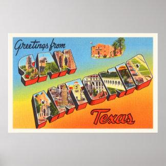 San Antonio #1 Texas TX Vintage Travel Souvenir Poster