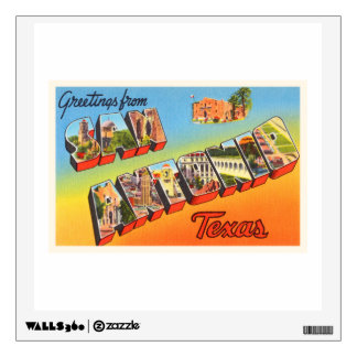 San Antonio #1 Texas TX Vintage Travel Souvenir Wall Sticker