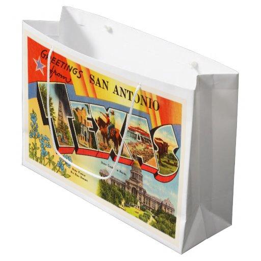 San Antonio 2 Texas Tx Vintage Travel Souvenir Large Gift