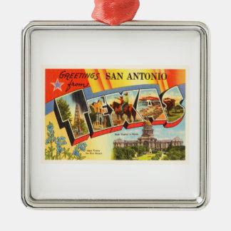 San Antonio #2 Texas TX Vintage Travel Souvenir Metal Ornament