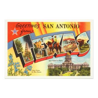 San Antonio #2 Texas TX Vintage Travel Souvenir Photo Print