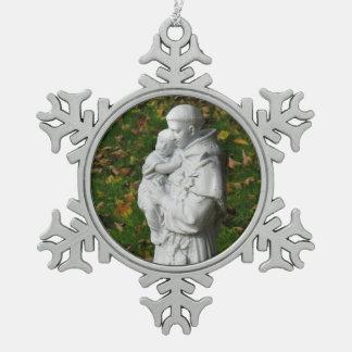 San Antonio Adorno De Peltre En Forma De Copo De Nieve