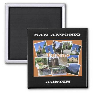 San Antonio/Austin Texas Collage Refrigerator Magnet