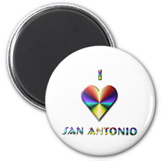 San Antonio -- Brown Blue & Gold Refrigerator Magnets