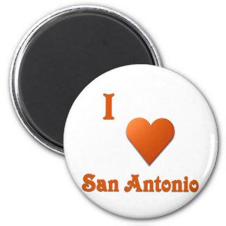 San Antonio -- Burnt Orange Refrigerator Magnet